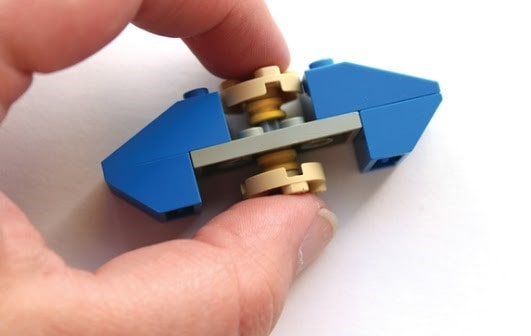 DIY homemade fidget spinner made of legos