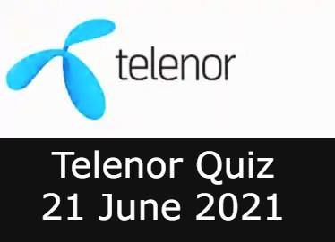 Telenor Quiz Answers 21 June