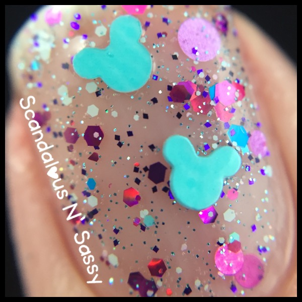 Sweet Heart Polish - Hide & Seek Pascal with mickey heads - the Tangled Trio