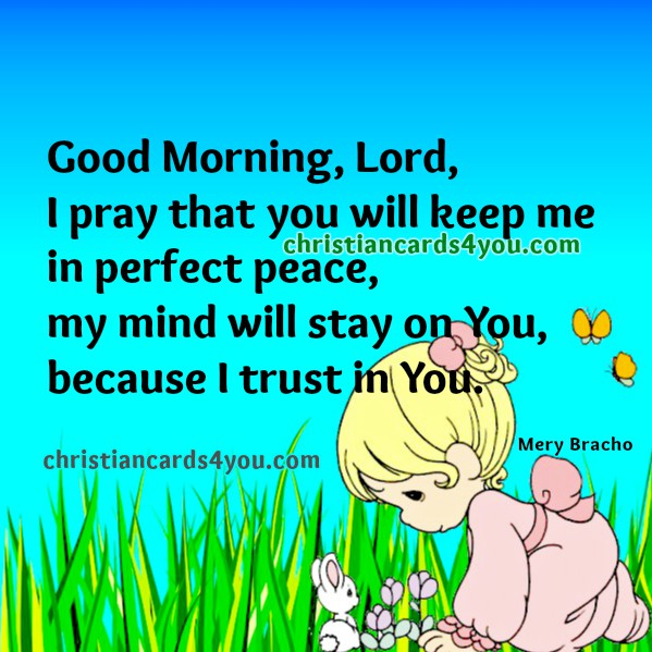 Good Morning Christian Quotes: Good Morning, Lord. Prayer