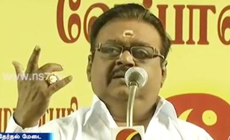 Vijayakanth Speech at Election