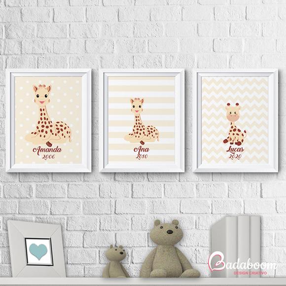 Kit Poster Girafas