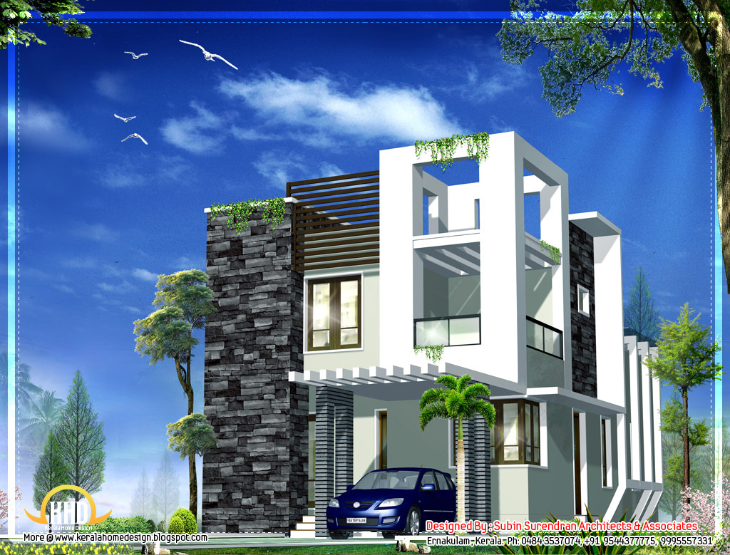 April 2012 kerala home design and floor plans for Contemporary building elevation