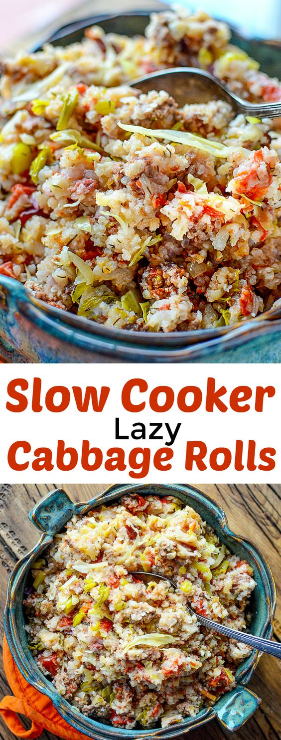 Slow Cooker Lazy Cabbage Rolls