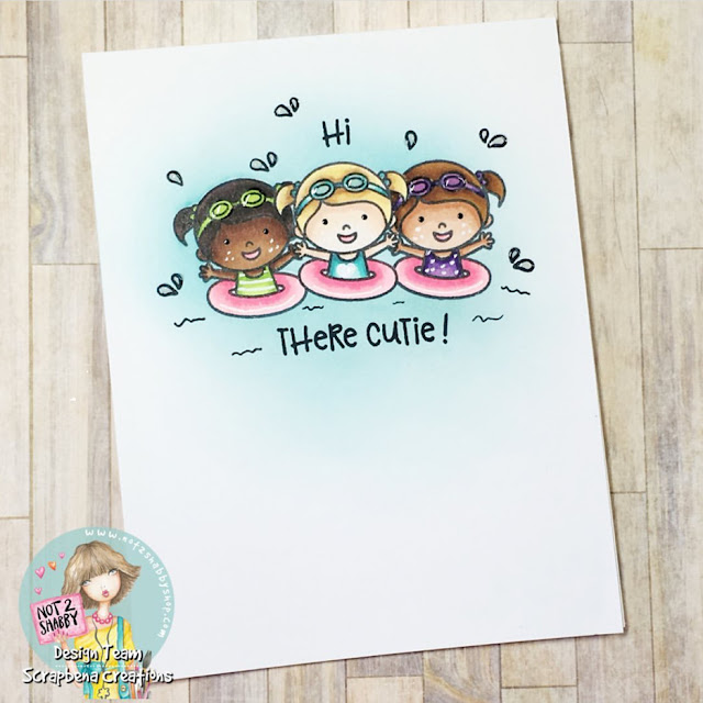 Sunny Studio Stamps: Coastal Cuties Customer Card by Jenn