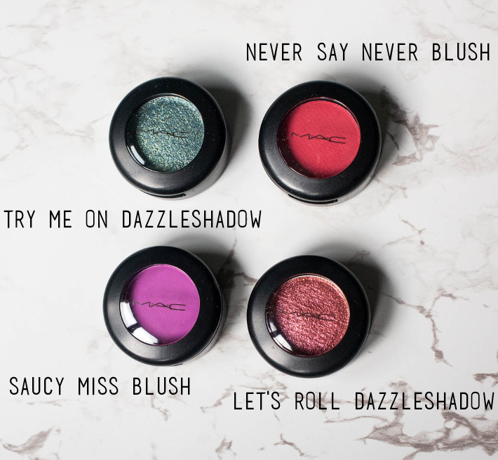 Beauty: MAC Dazzleshadow and matte blush review