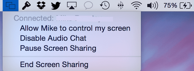 iMessage Allows to share screen for Remote support