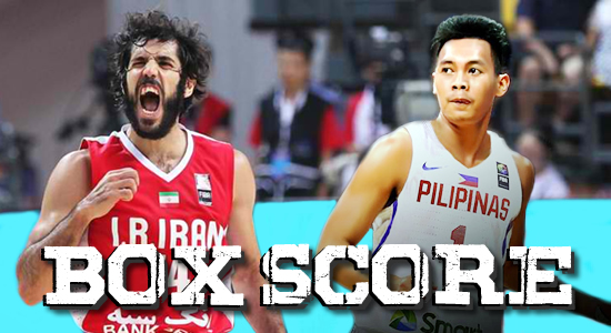 Box Score List: Philippines vs Iran 2019 FIBA World Cup Qualifiers Asia