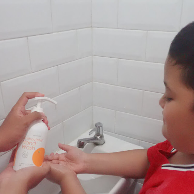 oh my orange antibacterial hand wash