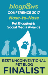 2017 BlogPaws Nose-to-Nose - BEST UNCONVENTIONAL PET BLOG FINALIST