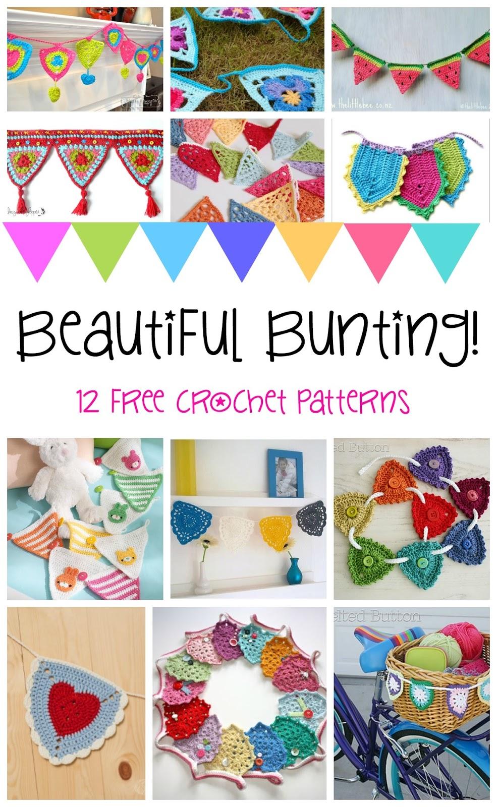 Fiber Flux Beautiful Bunting 12 Happy Free Crochet Patterns