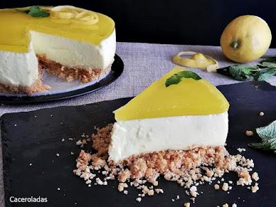 Tarta de limón sin horno casera