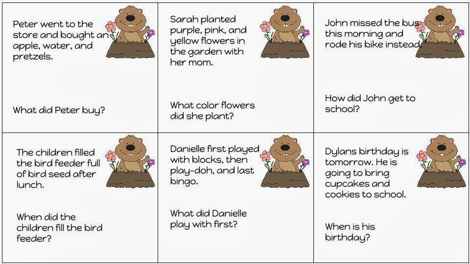 Speechy Days in the Pre-K: Groundhog's Day Auditory ...