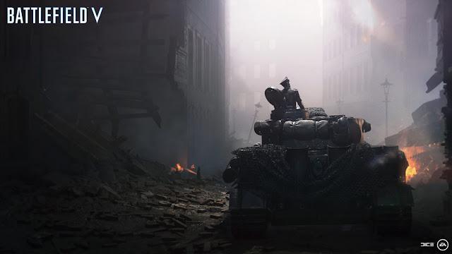 Screenshot of a Tiger tank in Battlefield V