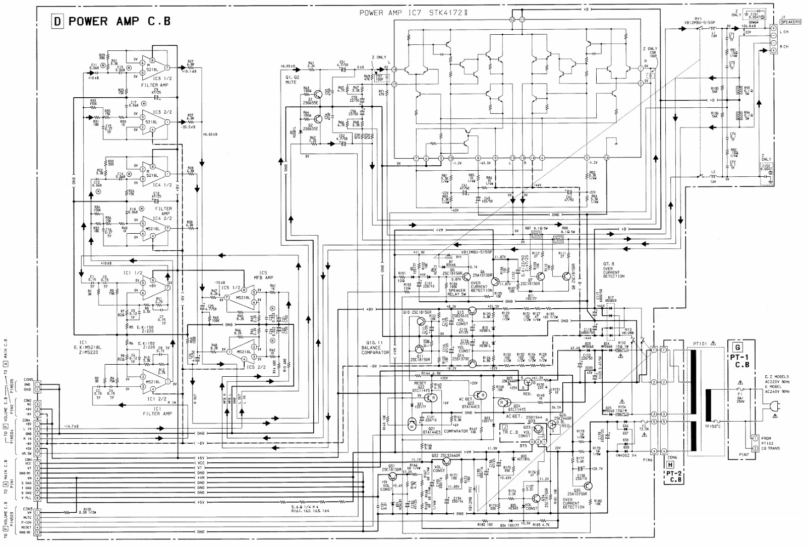 Aiwa NSX-800 Compact disc Stereo system – schematic and PWBs
