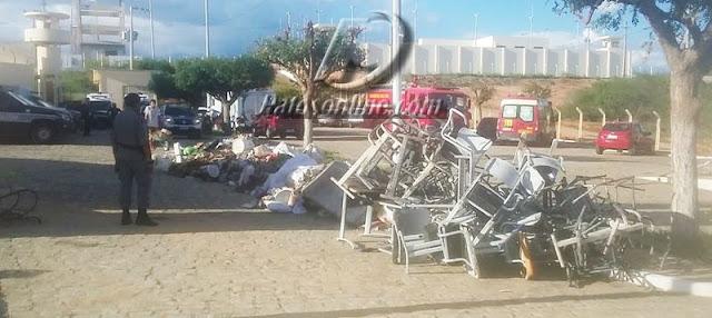 Começa contabilidade dos danos causados por rebelião no Presídio de Patos