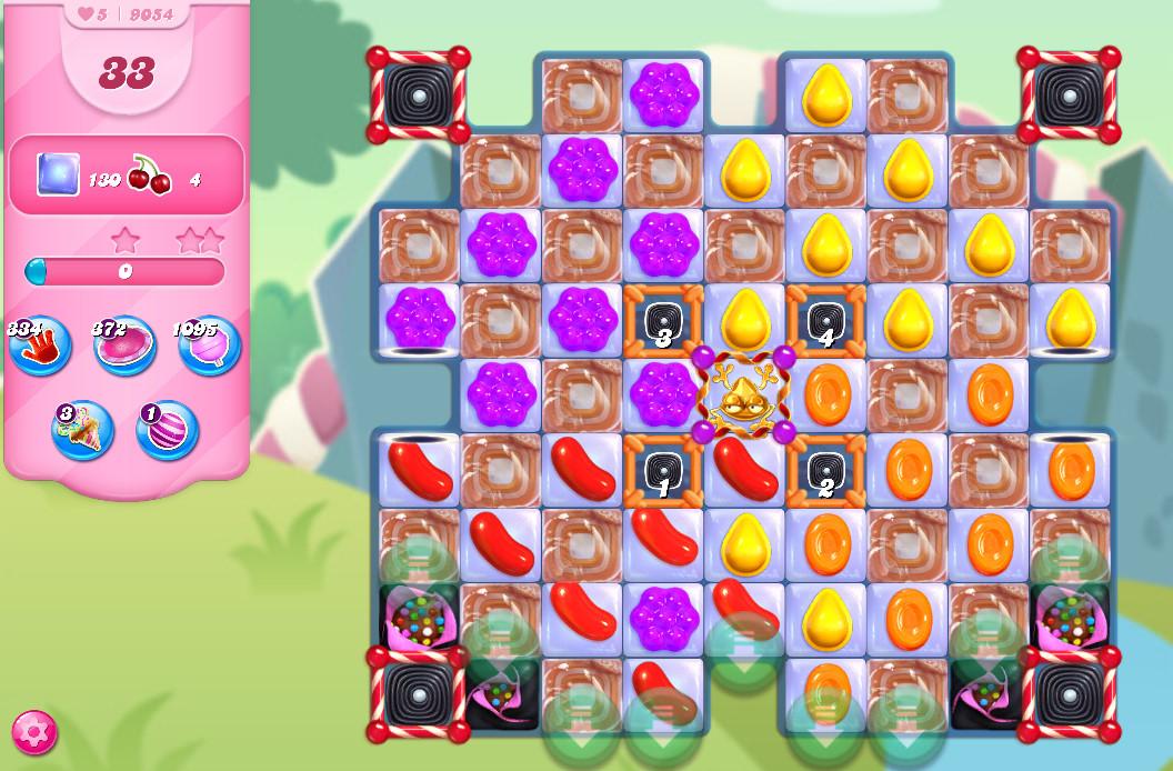 Candy Crush Saga level 9054
