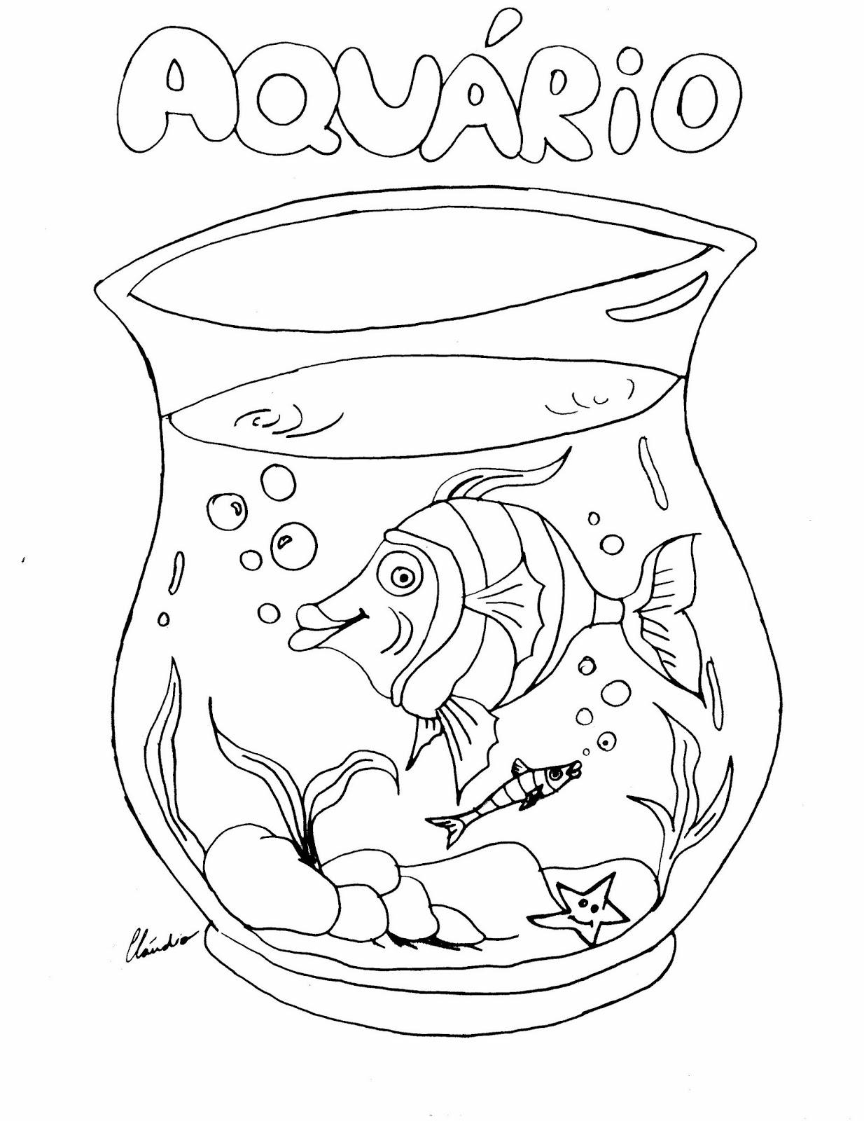 Aquario Para Colorir