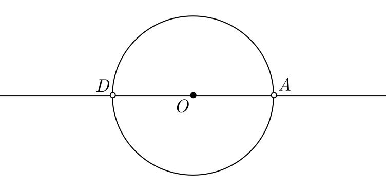 Construção geométrica de um hexágono regular - etapa 2