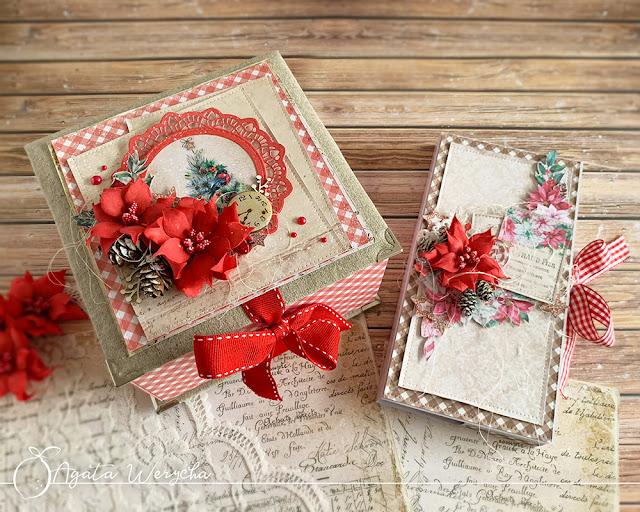 Świąteczne pudełka handmade / Christmas handmade boxes