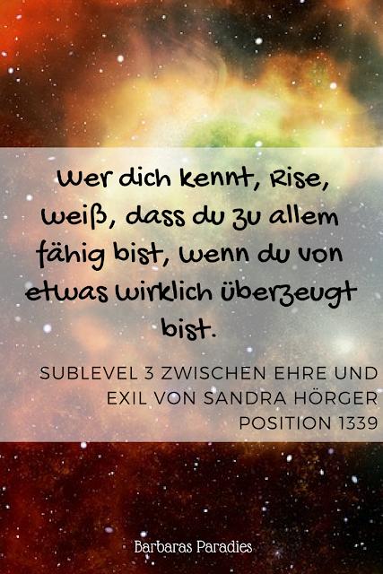 Buchrezension #198 Sublevel 3 Zwischen Ehre und Exil von Sandra Hörger