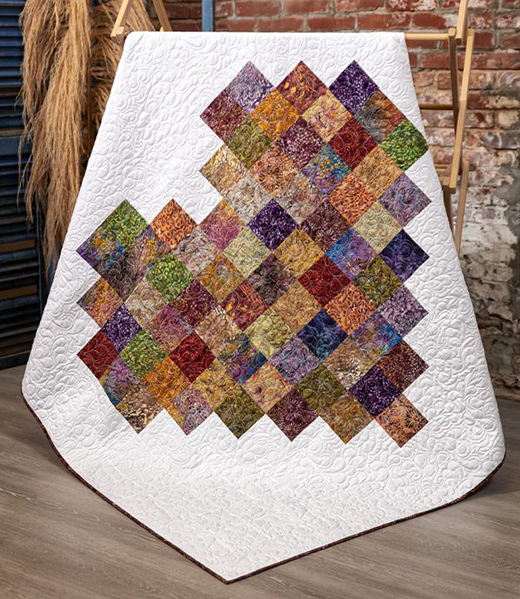 Pixelated Heart Quilt designed by Jenny of Missouri Quilt Co