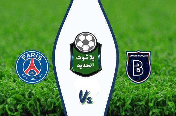 نتيجة مباراة باريس سان جيرمان وإسطنبول باشاكشهر اليوم 28 / أكتوبر / 2020 دوري ابطال أوروبا