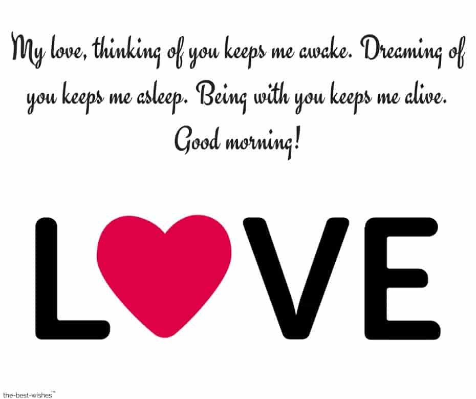 good morning my love messages for him