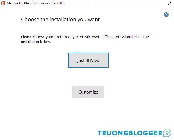 Hướng dẫn cài đặt và Active Office 2016 Full 32/64Bit