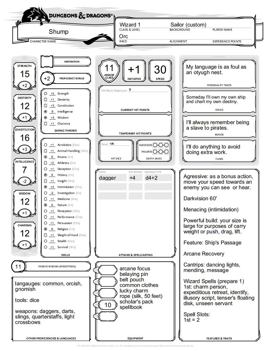 Bored & Sorcery: Bad Characters for Dungeons & Dragons 5th