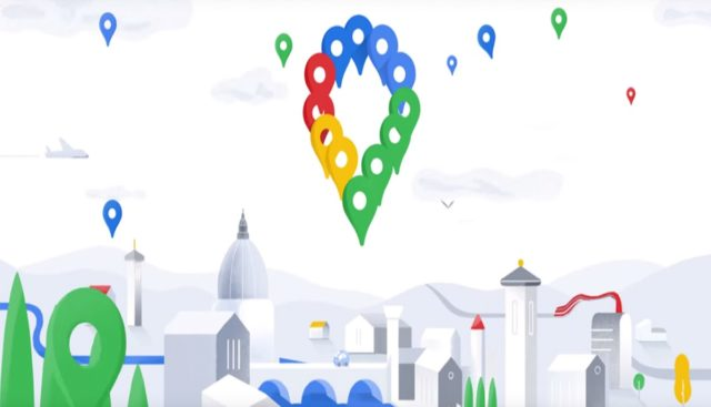 Redesigned Google Maps UI