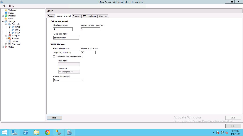 Jengkoil: SMTP Relayer for TMNET / Unifi / Streamyx SMTP delivery