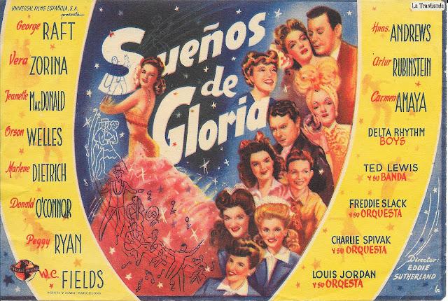 Sueños de Gloria - Programa de Cine - George Raft, Jeanette MacDonald, Orson Wells, Marlene Dietrich,