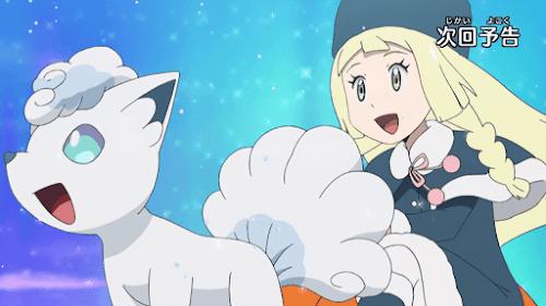 Pokemon Sol y Luna Capitulo 60 Temporada 20 Lilie se eleva en el aire, el Torneo de Salto de PokéTrineo