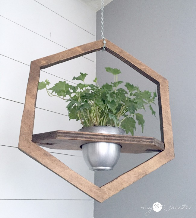 Hanging Hexagon Planter, MyLove2Create