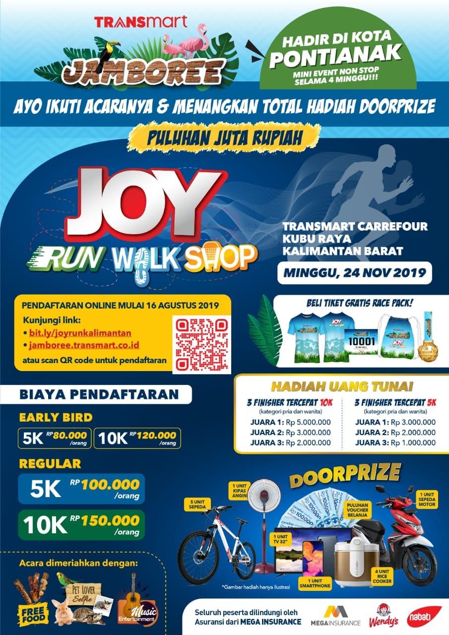 Joy: Run Walk Shop - Transmart Kuburaya • 2019