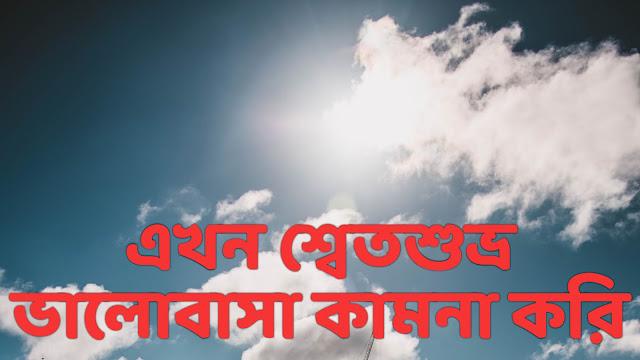 এখন শ্বেতশুভ্র ভালোবাসা কামনা করি-Poem