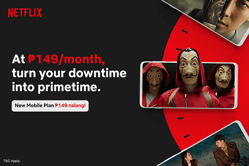 Netflix introduces a plan exclusive on mobile in the Philippines for PHP 149 per month