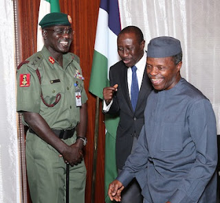 Shake Up In The Nigerian Army As Osinbajo Takes Over