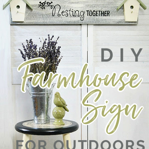 DIY Nesting Together Birdhouse Sign