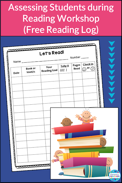 How to use reading logs to help plan for reading conferences (link to free log included).