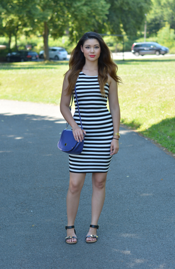 Striped Bodycon Dress, Love Culture Dress, Soda Sandals, Summer Outfits
