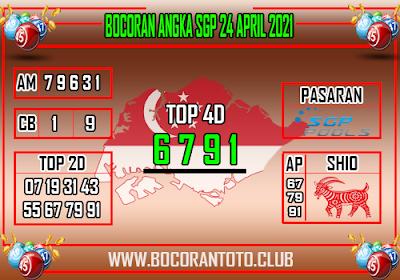 Bocoran SGP 24 April 2021