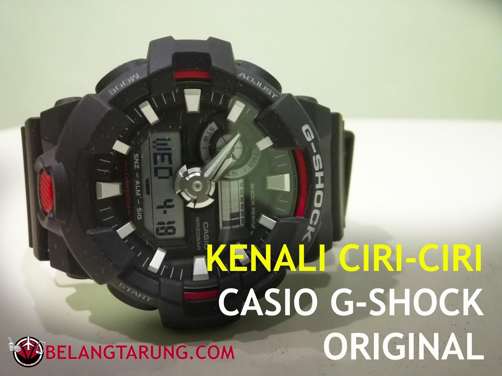Cara Kenal Pasti Perbezaan Jam Casio G-Shock Original dan Fake ... b16f463309