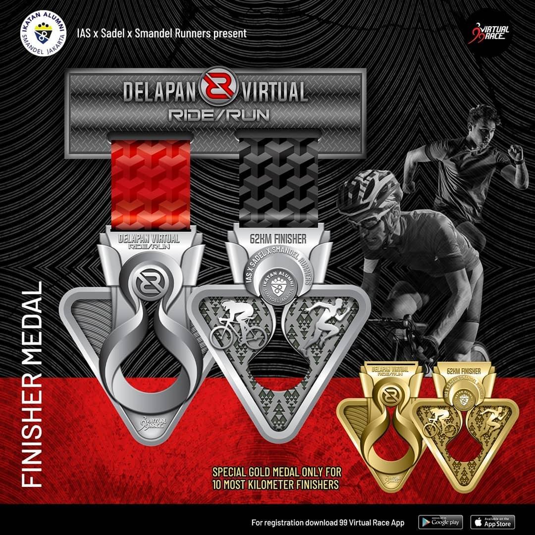 Medali - Delapan Virtual Ride/Run • 2021
