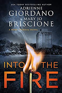Into the Fire - a thrilling murder suspense mystery book promotion by Adrienne Giordano