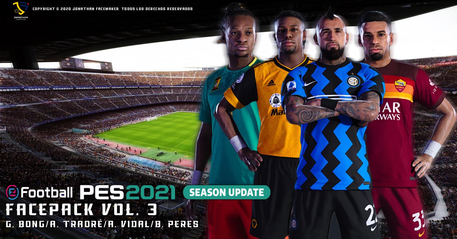PES 2021 Facepack Vol. 3 by Jonathan