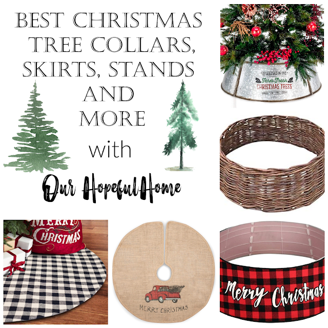 tree collar collage Christmas trees tree skirts