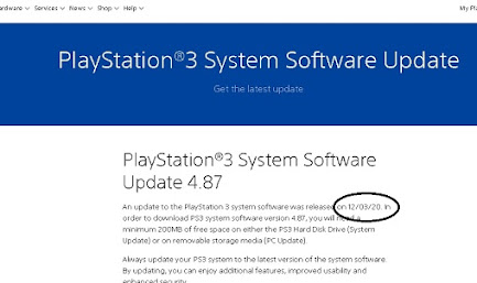 update ps3 sony