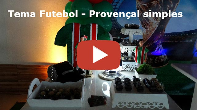 Vídeo decoração de aniversário tema Futebol